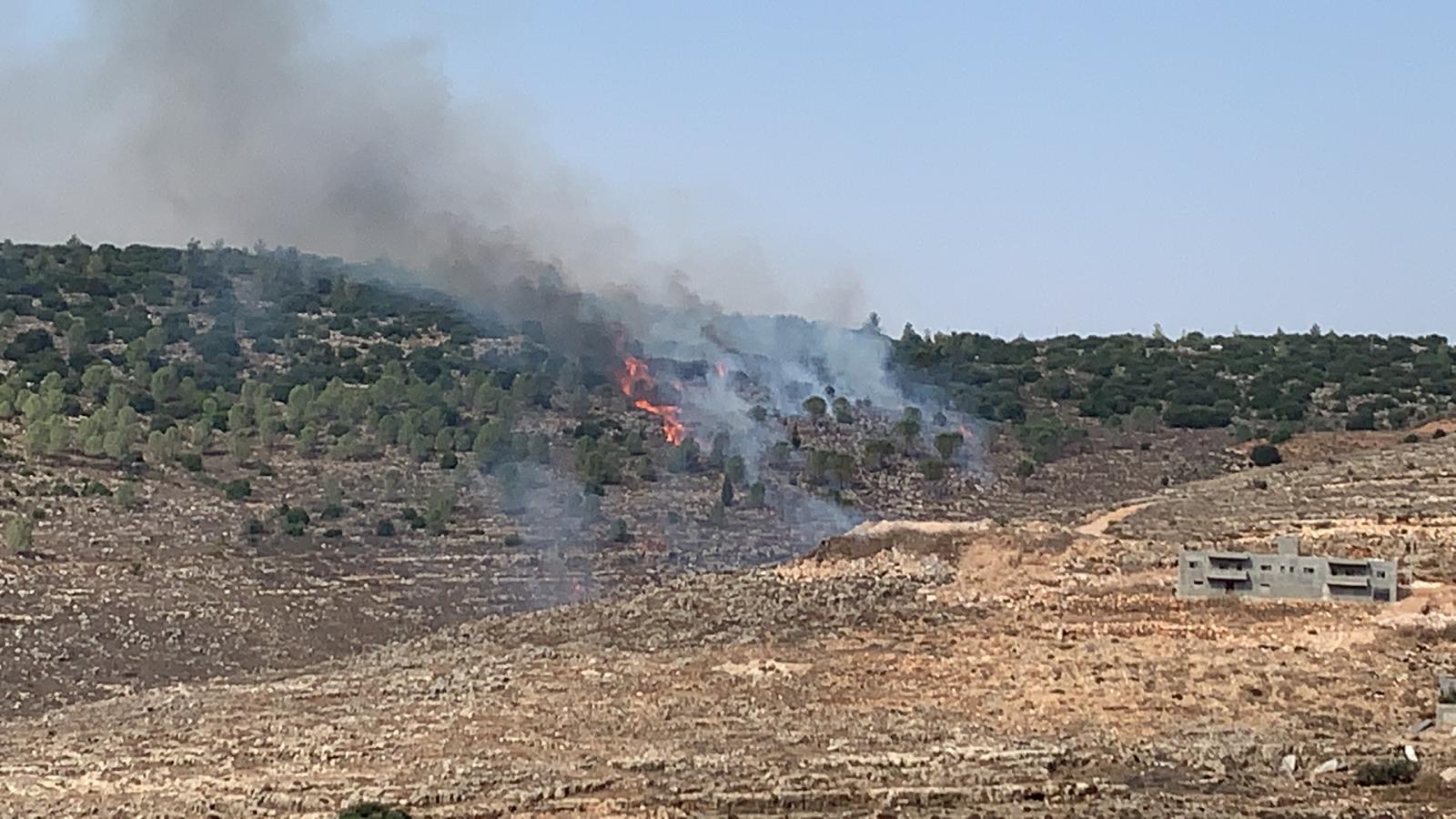 שריפת חורש משתוללת סמוך לישוב צור הדסה
