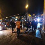 פצוע קל בתאונה עצמית של אוטובוס ברחוב כנסת מרדכי