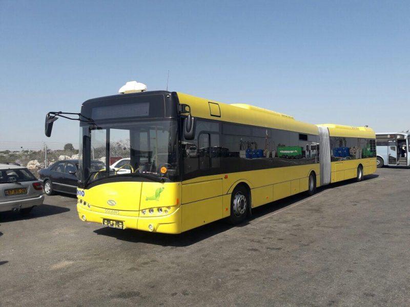 אוטובוס מפרקי בביתר. קרדיט צילום - ביתר עילית אונליין