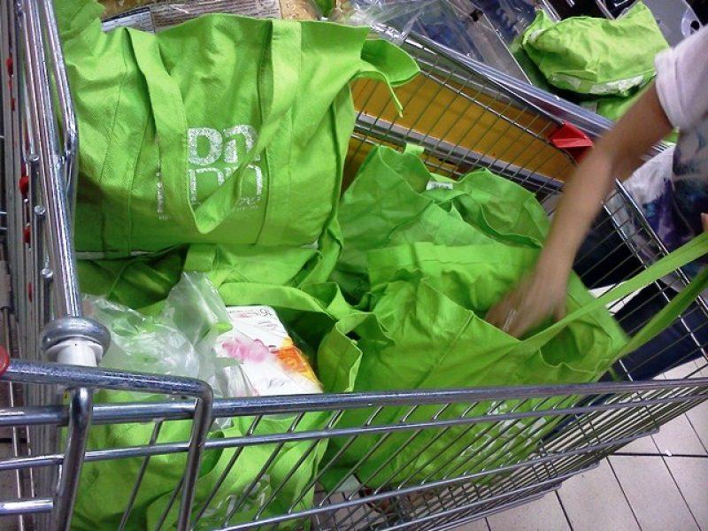 תיק בד לקניות - לשימוש רב פעמי