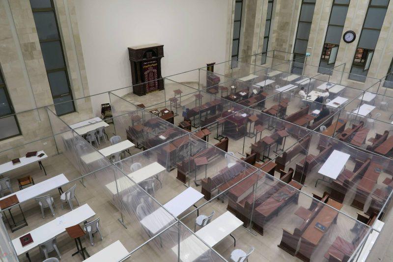הקפסולות בהיכל בית הכנסת בית מאיר   צילום: ארי קופרשטוק