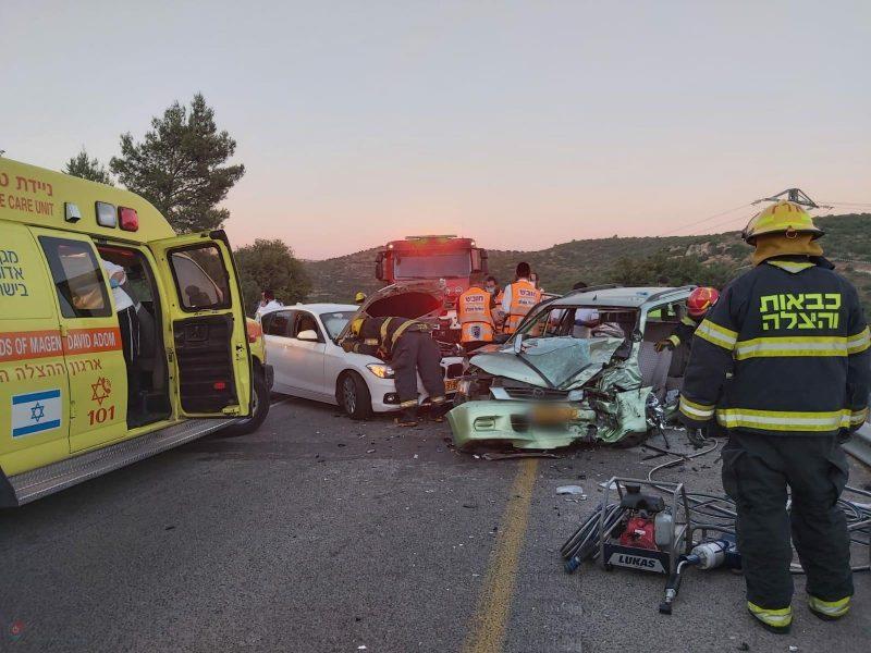 מזירת התאונה בסמוך למטע | צילום: תיעוד מבצעי איחוד הצלה
