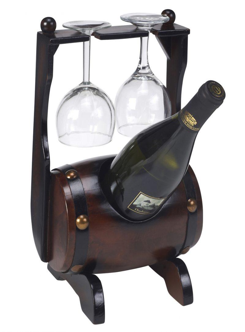 בר יין לבקבוק עם 2 כוסות ברשת ג'נטלמן