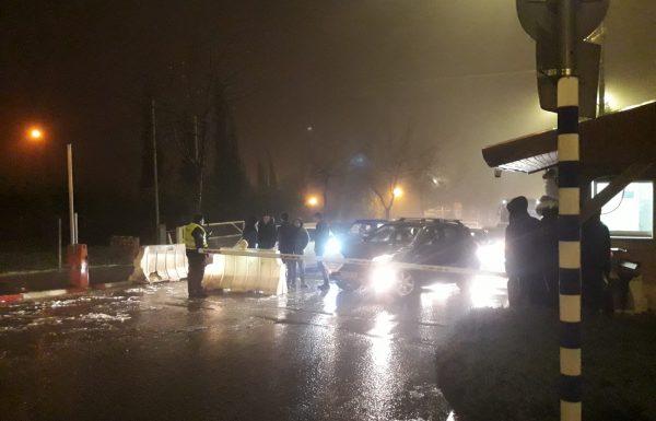 צפו: הסופה בעיצומה; שלג קל בביתר, עשרות תקועים בכביש המנהרות